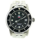 TAG HEUER WD1210-DD PROF 200M BLACK DIAL 37MM QUARTZ STAINLESS STEEL DATE WATCH