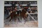 SECRETARIAT PHOTO Signed by Jockey Ron Turcotte Belmont Stakes 1973 31 Lengths