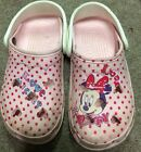 Girls Crocs size 3 4 Pink Mickey Mouse Cayman Pink Mini Mouse
