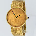 Corum Twenty Dollars $20 Gold Coin Watch 18K Gold Mechanical 34.5mm Serviced