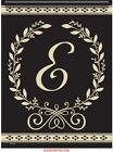 Carsons Classic Monogram Garden Flag choose your Letter 125 X 18 Dbl Sided New