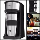 Single Serve Cup Coffee Maker With 14 oz Travel Coffee Mug and Reusable Filter