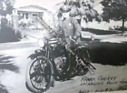 1948 Indian Motorcycle LAPD Officer RARE Action Photo Reprint Pic Image M19