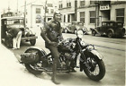 1919 Indian Motorcycle Harland Krause RARE Action Photo Reprint Pic Image M12