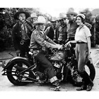 Vintage Indian Motorcycle Riders RARE Action Photo Reprint Pic Image M14