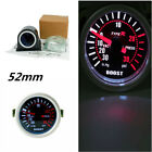 Universal Carbon Fiber 2 Cover Car Turbo Boost Gauge Meter White LED Display