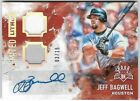 JEFF BAGWELL 2017 DIAMOND KINGS AUTO AUTOGRAPH DUAL JERSEY CARD #3 15!