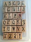 Stampin Up Quirky Alphabet Upper Stamp Set 28 Pieces