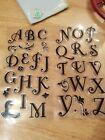 inkadinkado upper case alphabet set 34pc Clear Stamps cursive style letters