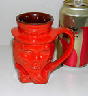 VINTAGE FRANKOMA UNCLE SAM TOBY MUG RARE RED GLAZE COLOR 1976 #600