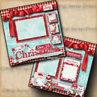 CHRISTMAS SEWN WITH LOVE 2 premade scrapbook pages paper piecing DIGISCRAP A0161