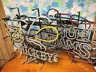 7 Piece Lot Bar Sign Lights Neon Hanging Beer Old Style Miller Sam Adams As Is
