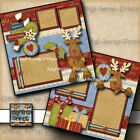 FAMILY CHRISTMAS 2 premade scrapbook pages paper piecing BY DIGISCRAP A0151