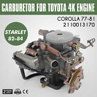 New Carburetor Carb for Toyota 4k Engine Corolla 77 81 Starlet 82 84 2110013170