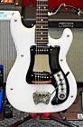 Vintage 1960's Hagstrom 1 Electric Guitar in Acrylic White Finish! NO RESERVE!!!