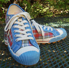PF FLYERS TARTAN PLAID CANVAS SNEAKERS Lace Up Casual Athletic Shoes Womens 95