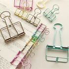 2X Novelty Hollow Metal Binder Clips Notes Letter Paper Clip Office Supplies HP