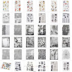 DIY Silicone Rubber Transparent Christmas Stamp Scrapbooking Stencil Album Craft