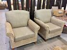 Ex Display Tyler Banana Leaf Conservatory Furniture Pair of Armchairs
