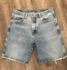 Vintage Wrangler Hero Originals Mens Jean Shorts Distressed Ripped