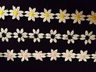 Embroider DaIsy 3 4 trim 10 yards Pink  yellow or black center you pick