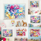 3D My Little Pony Cute Wall decals Removable sticker kids nursery Girls decor