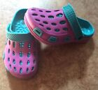 The Childrens Place Girls Purple and Teal Clogs Size 13