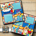 1ST BIRTHDAY BOY baby 2 premade scrapbook pages paper piecing DIGISCRAP A0031