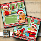 1ST CHRISTMAS baby 2 premade scrapbooking pages paper piecing DIGISCRAP A0033