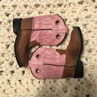 Old West Girls Pink Tan Westeren Cowgirl Boots 075 75