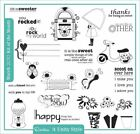 Retired Rockin It Unity Style Kit of Month March 2010 Rubber Cling Mount Stamps