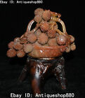 China Natural Shoushan Stone Carving Fruits Fruit Basket Litchi Leechee Statue