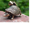 Solid Bronze Hedgehog Miniature by NFedosov