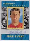 1999 Pinnacle Laserview Football John Elway Inscriptions Auto Card # 643 3100