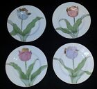 True Full Set of 4 Fitz and Floyd Tulipe D'Or Salad Plates 7 1/2