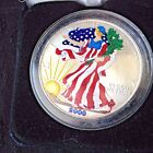 2000 AMERICAN EAGLE SILVER DOLLAR IN FULL COLOR WITH CERTIFICATE OF AUTHENTICITY
