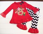 Girls Rare Editions Reindeer Christmas Pageant Casual Wear Outfit Sz 2T NWT
