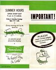 Disneyland Important Ticket Information Brochure 1950s + Auto Park Ticket