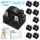 10 Refrigerator Start Relay PTC for QP2-4.7 4.7Ohm 3Pin Vissani Danby Compressor