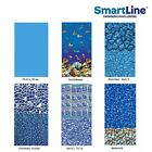 SmartLine 25 Gauge Above Ground Overlap Swimming Pool Liner w Coping Strips
