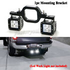 Dual LED Tow Hitch Mounting Bracket For Off Road Truck SUV Trailer Reverse Lamp