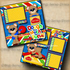 PLAY DOH DOUGH 2 premade scrapbooking pages paper piecing layout BY DIGISCRAP
