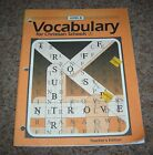 Bob Jones BJU Vocabulary for Christian Schools Level B Teachers Edition Grade 8