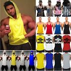 Men Fitness Gym Bodybuilding Vest Tank Top Muscle Sports T Shirt Muscle Tops Tee