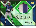 2017 Panini XR Autograph Swatches Green Andrew Luck 2-Color PATCH AUTO 1 3