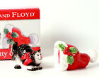 Fitz and Floyd Kitty Claus Christmas Salt and Pepper Set Cat and Hat New