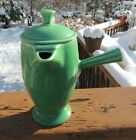 Green Fiesta Demitasse Coffee Pot With Cover Excellent Condition