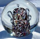 SIGNED ADAM JABLONSKI INCREDIBLE CRYSTAL  ART GLASS PAPERWEIGHT  -MADE IN POLAND