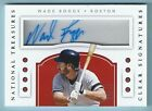 WADE BOGGS 2016 NATIONAL TREASURES CLEAR SIGNATURE AUTOGRAPH AUTO 15