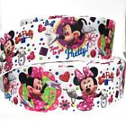 GROSGRAIN RIBBON 7 8  15 MINNIE MOUSE BOW DOTS Mn6 HEARTS Printed
